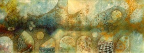 City II. Watercolor and pencil om paper. Private collection.