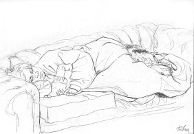 Mother and Dugald sleeping.