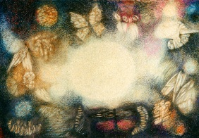 The Night of the insects. Watercolor and pencil on paper. Private collection.