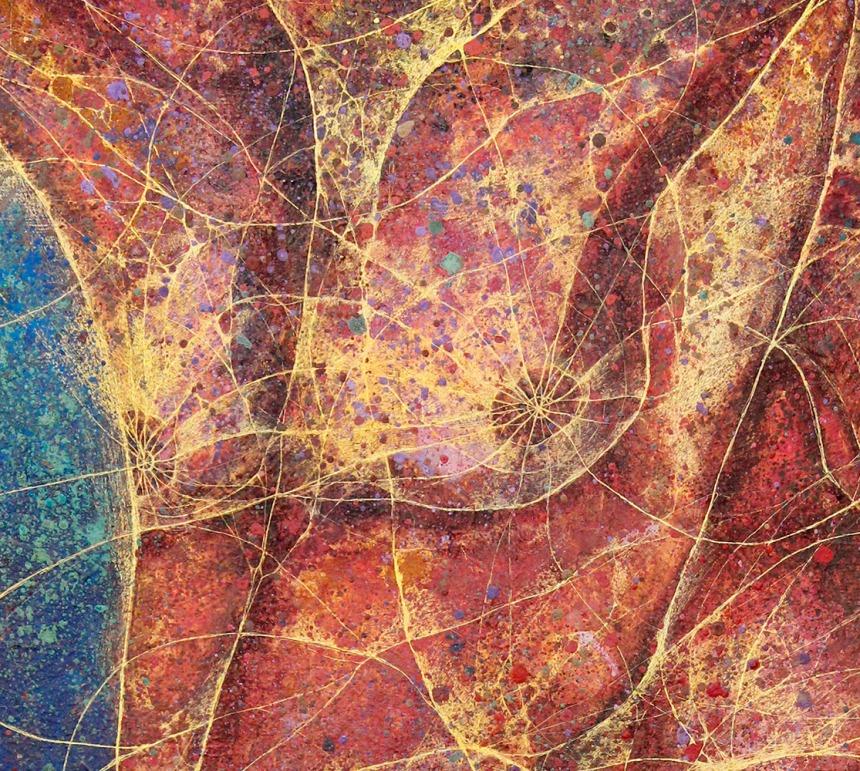 HeShe. Detail - Mixed media on paper. 100 x 70 cm.