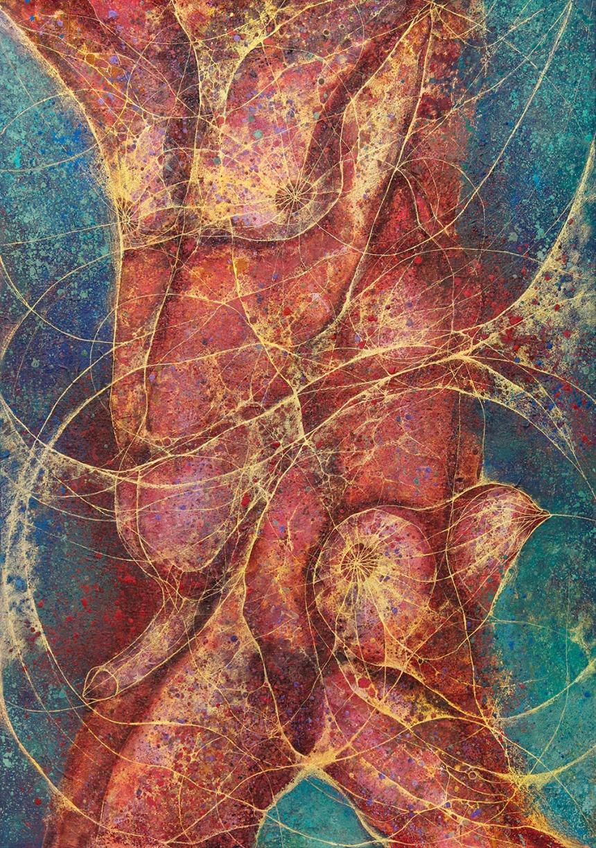 HeShe - Mixed media on paper. 100 x 70 cm.